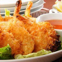 Coconut Shrimp with Mustard Sauce
