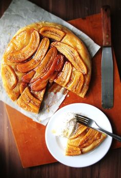 Making Banana Tarte Tatin - Notions & Notations of a Novice Cook