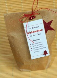 15 Minuten Weihnachten in der Tüte, Stampin Up, Big Shot - Wonderful Diy Ideas Christmas Is Coming, Christmas And New Year, Winter Christmas, Christmas Time, Christmas Crafts, Christmas Decorations, Holiday, Christmas Meaning, Funny Christmas