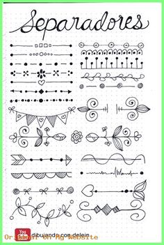 Bullet Journal Doodles: 20 Amazing Doodle Ideas For Beginners & Beyond! - Meraadi These bullet journal doodles and doodle tips and ideas are exactly what you need to learn how to doodle. Perfect for beginners and more advanced doodlers! Bullet Journal Page, Bullet Journal Headers, Bullet Journal Banner, Bullet Journal Writing, Bullet Journal School, Bullet Journal Aesthetic, Bullet Journal Inspiration, Borders Bullet Journal, Bullet Journal Dividers