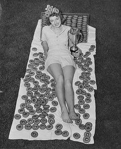 Darlene, in yet another desperate bid for attention, had to settle for 1st runner up Queen of Doughnuts.