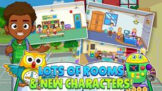 Download & Install - 🏫 My Town : Play School for Kids Free 🏫 1.04 Apk Free Games For Kids, Learning Games For Kids, School Play, School Games, Haunted House Games, Cute Games, Music For You, Kid Character, Pajama Party