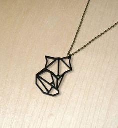 Origami Animal Geometric Fox Necklace                                                                                                                                                     Mehr