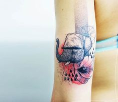 Abstrct Elephant tattoo by Kofi Deuxmille
