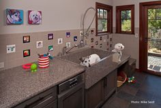laundry room with a dog tub