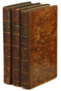 WEALTH OF NATIONS by ADAM SMITH ~ Complete 3 Volume Set 1814 ~ Edinburgh Edition Edinburgh, Wealth, Books, Libros, Book, Book Illustrations, Libri