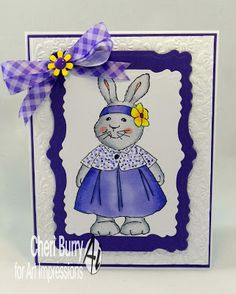 Art Impressions Rubber Stamps: Kate: Ai Easter: ...handmade card. bunny rabbit