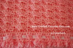 shell stitch free crochet baby blanket pattern