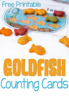Printable Goldfish Counting cards These Goldfish counting cards are so adorable! What a fun way to combine learning numbers with snack time!These Goldfish counting cards are so adorable! What a fun way to combine learning numbers with snack time! Counting Activities, Preschool Learning Activities, In Kindergarten, Preschool Activities, Teaching Ideas, Preschool Class, Motor Activities, Math Games, Family Activities