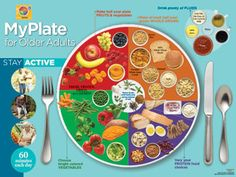 MyPlate for Older Adults Poster: Elderly Nutrition Poster  $14.95 #Seniors #Healthy #Food #Poster #Nutrition