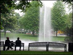 Parkje met fontein