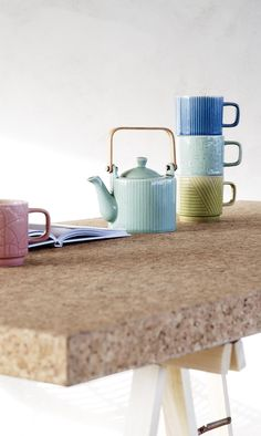 Tea time takes a retro twist with the Ocha collection of ceramics in fresh colours and contemporary patterns. Rainbow Kitchen, Green Cushions, Oliver Bonas, Magical Christmas, Kitchen Stuff, Photo Studio, Drinkware, My Dream Home, Tea Time