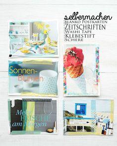 Fresh DIY Postkarten aus alten Living at Home Zeitschriften basteln