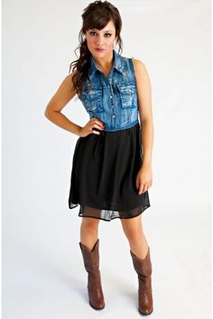 Southern Gal Dress. I really like the jean paired with the dressy skirt!