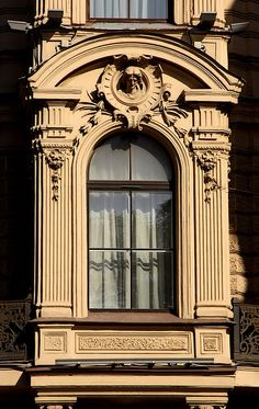 Decorated window (St. Petersburg).