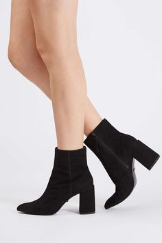 & OTHER STORIES Flare Heel Suede Boots V5lH2ciA