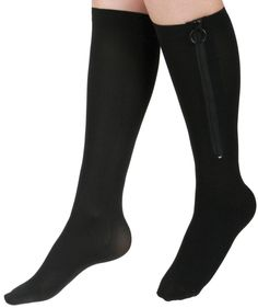 Curad MDS1711CBH Knee-High Zipper Compression Hosiery, 20-30 mmHg, C-Regular, Medium, Black -- Check this awesome image  : Sports First Aid