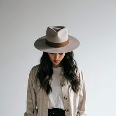 The newest additions to the Gigi Pip family of women's hats. Meet Miller, our pinched crown fedora, and Wren, our round top hat. Annabella + Hannah are also making a comeback this season with new designs + colors. Wide Brim Fedora, Brim Hat, Fedora Hats, Bowler Hat, Outfits With Hats, Black Felt, Felt Hat, Hats For Women, Halo