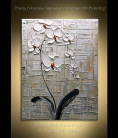 Orchid original painting Abstract Floral texture by Nizamas hand painted artwork Texture Painting, Texture Art, Floral Texture, Oil Painting On Canvas, Canvas Art, Painting Abstract, Daisy Painting, Abstract Canvas, Orchids Painting