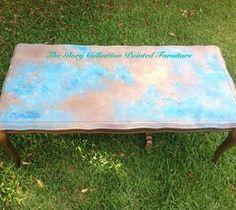 Easy DIY Home Decor Crafts: Faux Azul Copper Table Top Tutorial