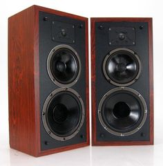 POLK AUDIO SERIES 5 BOOKSHELF VINTAGE SPEAKERS * NICE! #PolkAudio