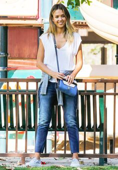 The+Foolproof+Mom+Wardrobe:+A+Jessica+Alba+Case+Study+via+@WhoWhatWear