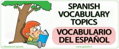 Spanish Vocabulary Topics - Vocabulario del idioma español