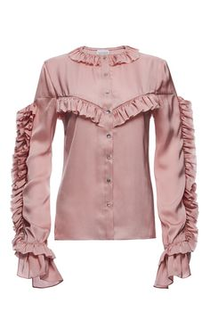 Bruges Ruffled Blouse by MAGDA BUTRYM for Preorder on Moda Operandi