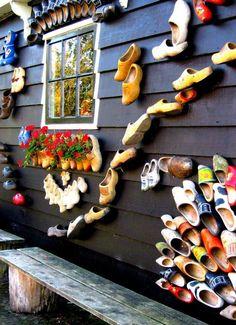 "Wooden shoe ""factory"" in Zaanse Schans (Zaandam, outside Amsterdam) Kingdom Of The Netherlands, Holland Netherlands, Amsterdam Netherlands, Dutch Wooden Shoes, Travel Around The World, Around The Worlds, Going Dutch, South Holland, I Amsterdam"