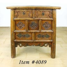 Over 100 year old Hand Carved Natural Wood Cabinet. Breathtaking Detail.