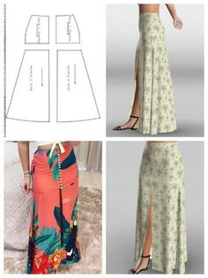 Glamour Glory: How to turn a Straight Skirt into a Flared Skirt Dress Making Patterns, Skirt Patterns Sewing, Clothing Patterns, Skirt Sewing, Fashion Sewing, Diy Fashion, Fashion Dresses, Sewing Clothes, Diy Clothes