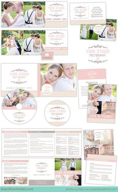 20 pc PROF. WRITTEN Photography Marketing Set por hazyskiesdesigns