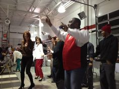 Learning the Cupid Shuffle! We all had a lot of fun at the Fred Haas Toyota Country Holiday Party.