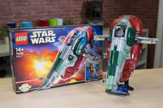 We take a closer look at some of the cooler features of the Lego Star Wars Boba Fett and his ship, the Slave I, in all their studded glory.