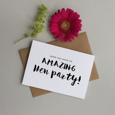 Hen party card. Card for the hen on her hen by LoveinaEnvelope
