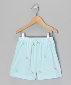 Take a look at this Blue Dragonfly Shorts - Infant, Toddler & Girls by K on #zulily today!
