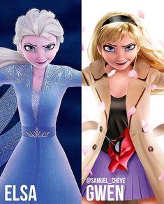 All Posts • Instagram Gwen Stacy, Elsa, Spiderman, Cinderella, Disney Humor, Disney Characters, Fictional Characters, Frozen, Marvel
