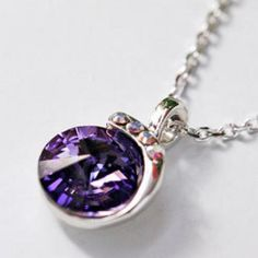 Crystal Pendant Purple - One Size