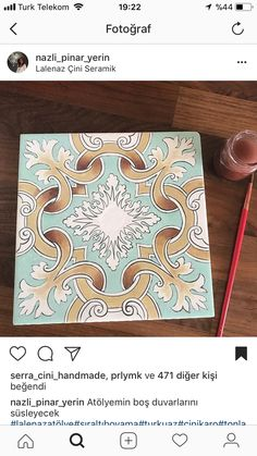 hermoso Tile Art, Tiles, Glazes For Pottery, Decorative Tile, Modern Calligraphy, Bookbinding, World Cultures, Graphic Art, Art Photography