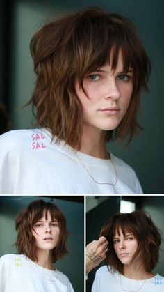 Hey, you! Check out these 27 attractive short shag hairstyles! They're great if your hair is long enough to pull back into a low ponytail. It's time for a change-up! These easy-to-do looks are perfect for any occasion. (Photo credit Instagram @salsalhair) Short Shag Hairstyles, Latest Hairstyles, Pretty Hairstyles, Shaggy, Photo Credit, Ponytail, Hair Makeup, Hair Cuts, Chic
