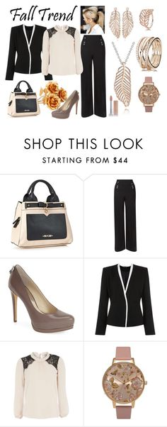"""""""Golden Rose"""" by moonlight0149 ❤ liked on Polyvore featuring Hobbs, MICHAEL Michael Kors, Jumpo and Dorothy Perkins"""