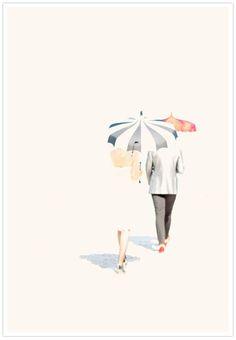 umbrellas {Max Wanger for Martha Stewart Weddings Destination Weddings and Dream Honeymoons 2010 issue via 100 Layer Cake}