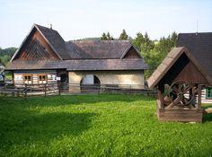 Skanzen Veselý Kopec Cabin, House Styles, Home Decor, Decoration Home, Room Decor, Cabins, Cottage, Home Interior Design, Wooden Houses