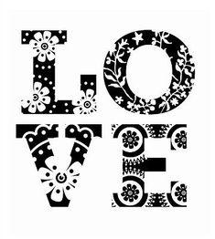 Mini tampon transparent Love - Planche 7 x 9 cm - Tampon transparent - Creavea Diy Photo, Love Letras, Happy Monday Quotes, Rock Poster, Grandma Quotes, Tampons Transparents, Cut Image, Quotes About Motherhood, Cricut Creations