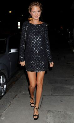 Millie Mackintosh In One Of Her Throw-On-And-Go Party Dresses - Wednesday 11th November #Chandeliers