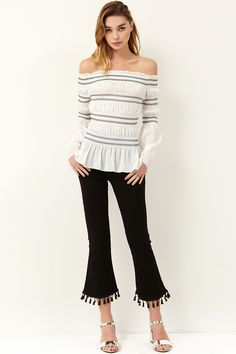 Delia Tassel Pants Discover the latest fashion trends online at storets.com