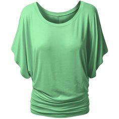 Womens Stylish Plain Boat Neck Batwing Sleeve T-shirt Green ($9.09) ❤ liked on Polyvore featuring tops, t-shirts, green, batwing sleeve tops, boatneck top, bateau neck tops, bateau neckline tops and boat neck t shirt