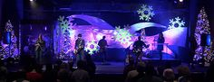 Snow Drifts | Church Stage Design Ideas (I could get into this!)