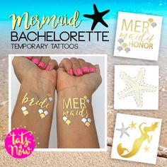 Bridesmaid Favors | Mermaid Bridal Party | Mermaid Maid of Honour | Team Bride Temporary Tattoo | Pineapple Party Theme | Spring Bachelorette Party | How to bachelorette party | Hen Party | Bride Tribe Favors | Bachelorette Party Favors | Hen Party Favor | Alternative Bachelorette Ideas