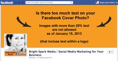 Facebook Cover Photo example more than 20 percent text - new policy as of January 2013